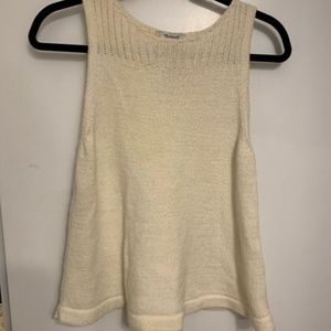 Off White Sweater Tank Top